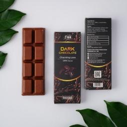 Kẹo Sô cô la đen 20g nguyên chất không đường 100% cacao Figo