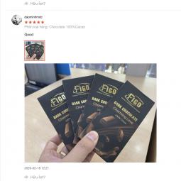 Kẹo Sô cô la đen nguyên chất không đường dòng Charming love 50g Figo - Vietnamese Chocolate
