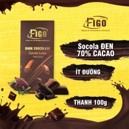 Kẹo socola đắng 70% cacao 100g Figo - Kẹo Socola Thương hiệu Việt Nam