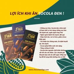 Kẹo Socola đen 80% cacao Hạt Macca dòng Intense Love 50g Figo - Vietnamese Chocolate