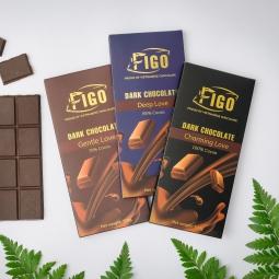 Kẹo Socola đen 85% cacao 100g Figo - Kẹo Socola thanh Việt nam